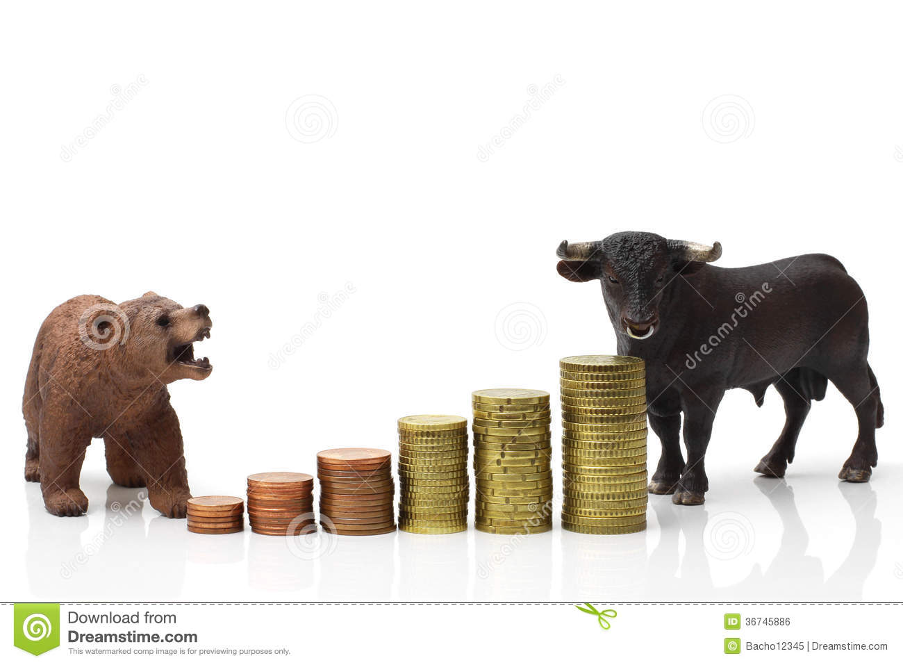 Bull And Bear Market Royalty Free Stock Image - Image ...