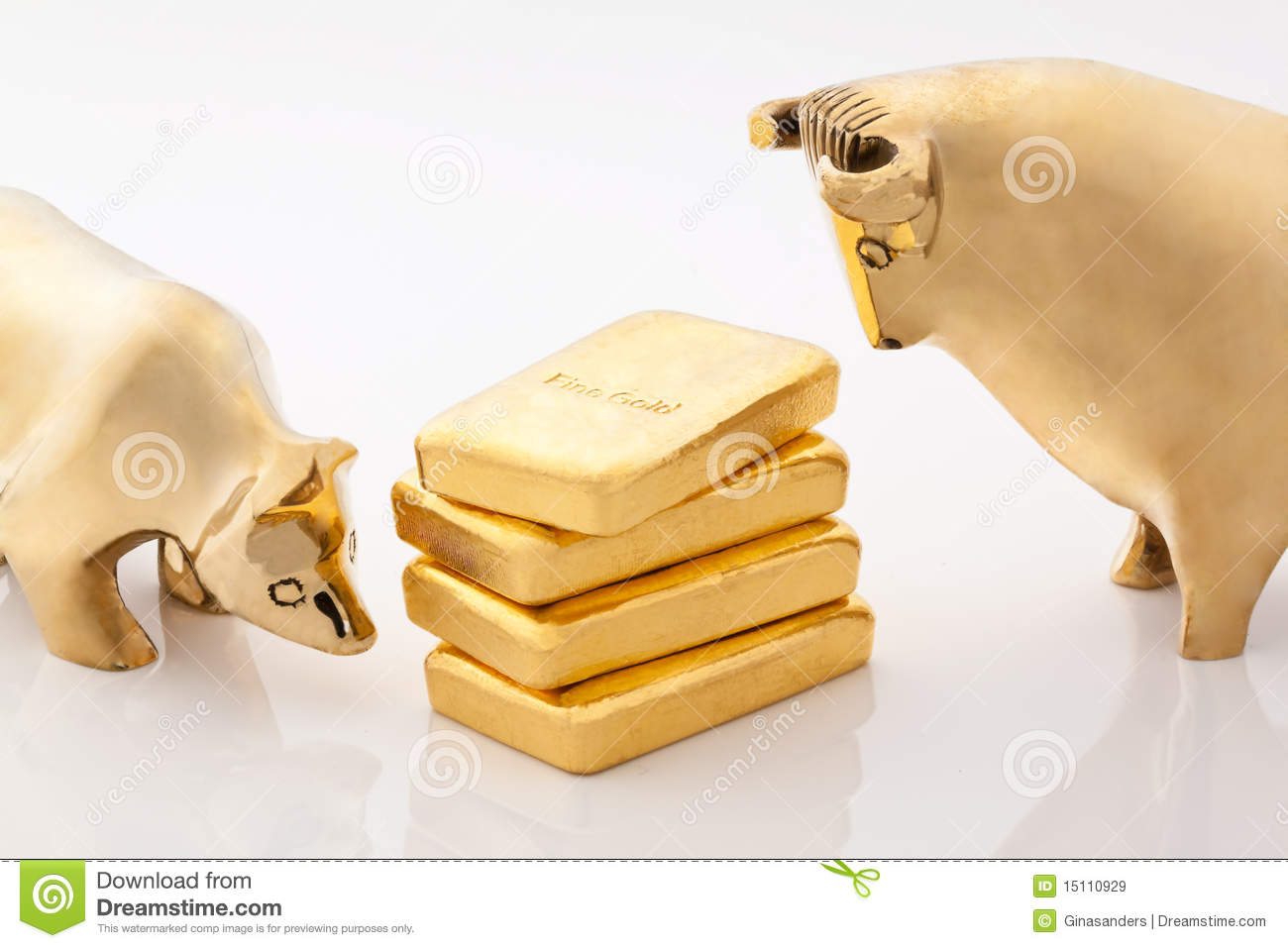 Bull and bear markets symbols with gold bars stock image image bull and bear markets symbols with gold bars biocorpaavc Images