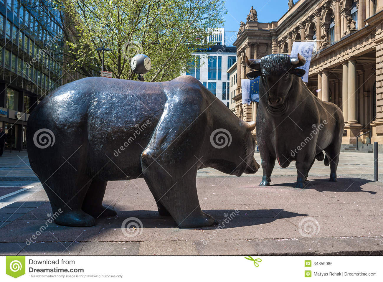 The Bull And Bear Statues Editorial Photo Image 34859086