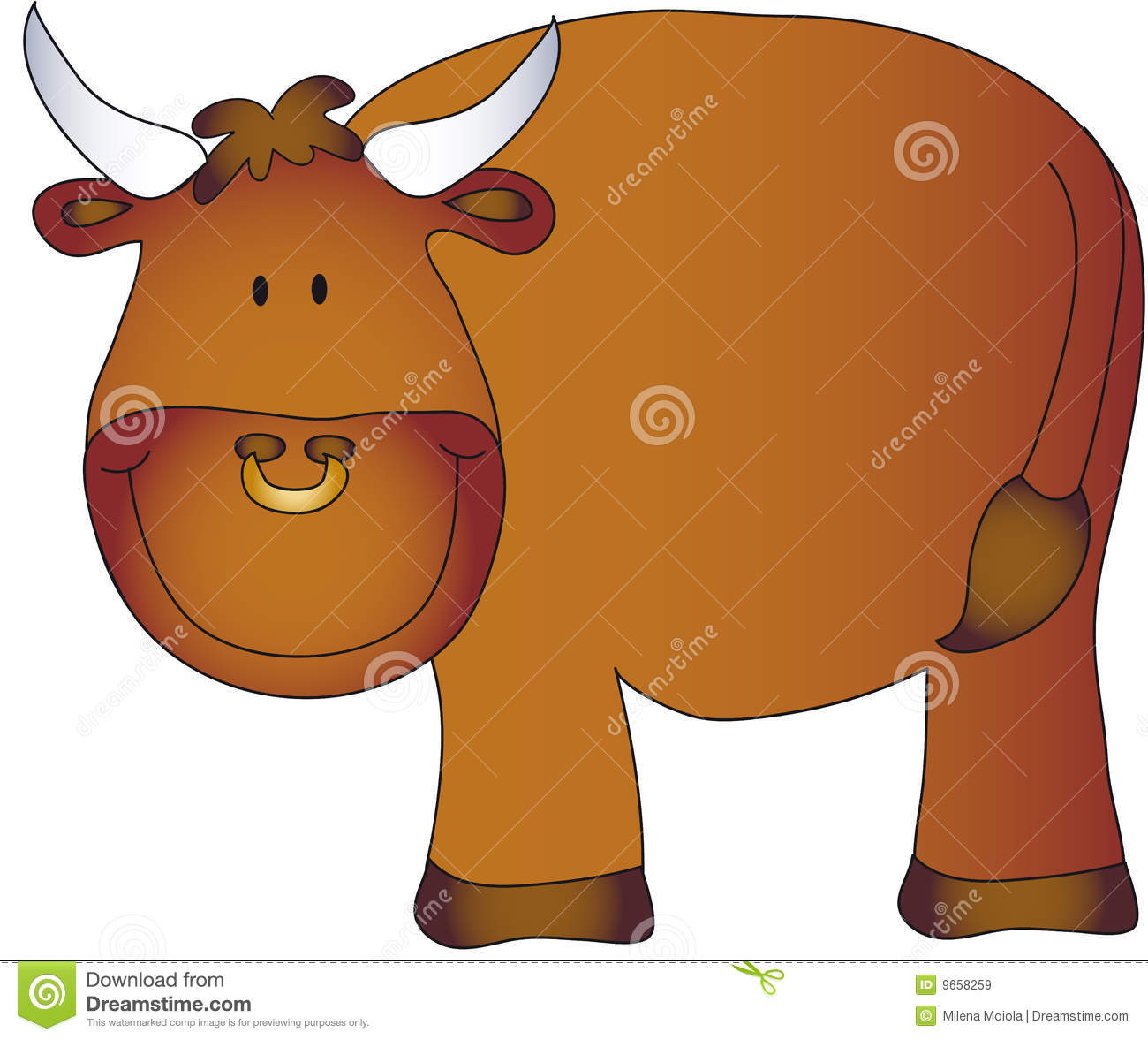 Cartoon bull vector illustration cartoondealer