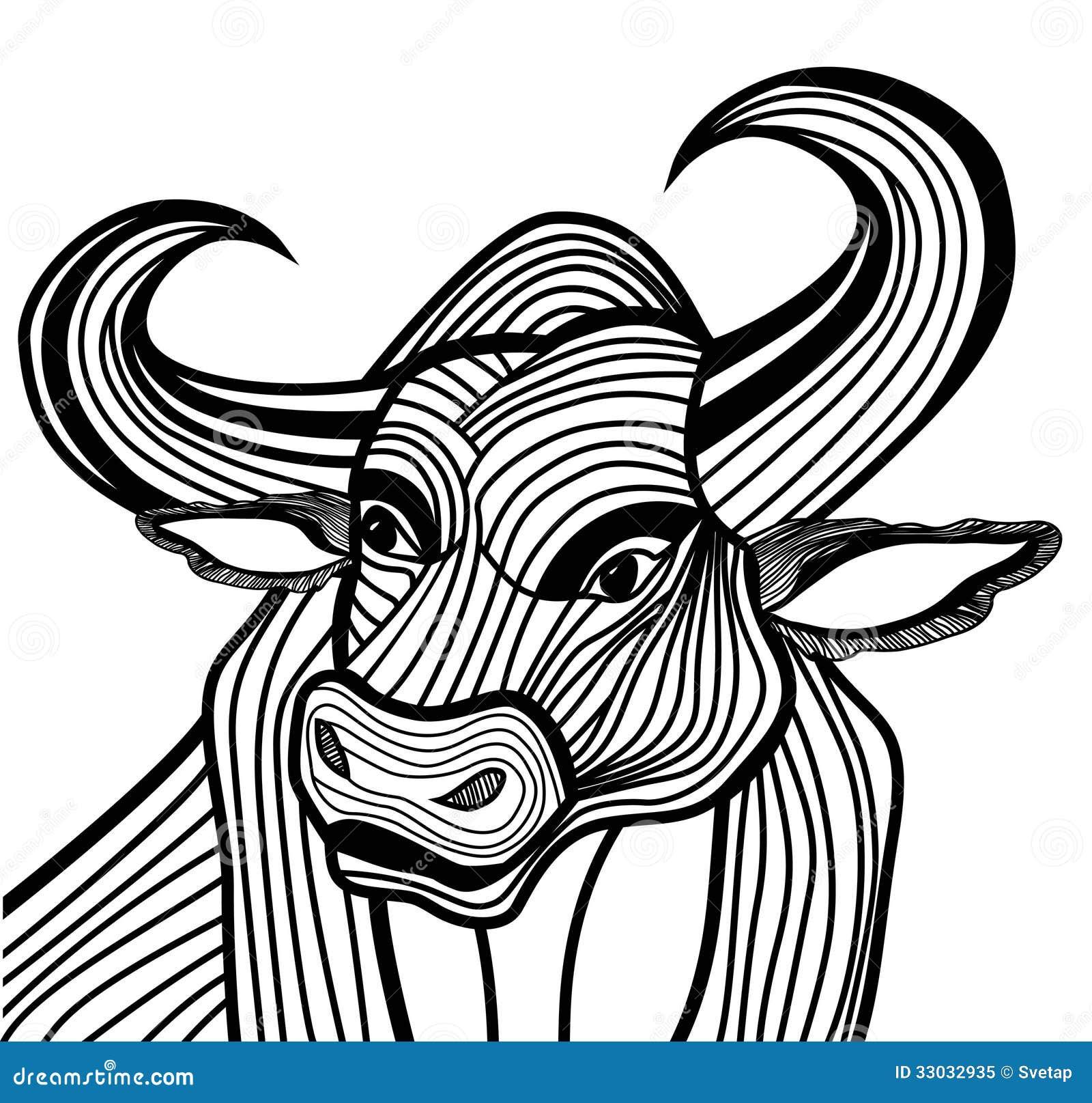 Download Bull Head Vector Animal Illustration For T Shirt Stock