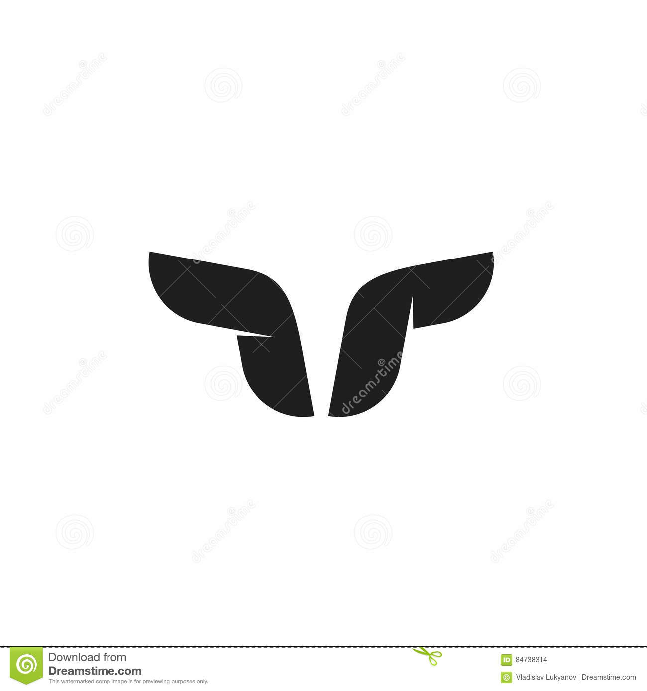 bull logo vector symbol buffalo horns geometric taurus head shape