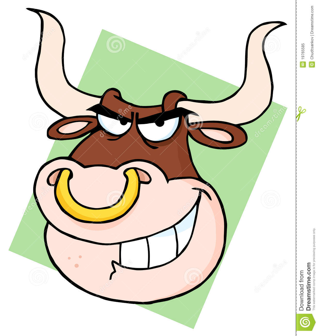 Bull With Nose Ring Stock Vector Illustration Of Color 19765585