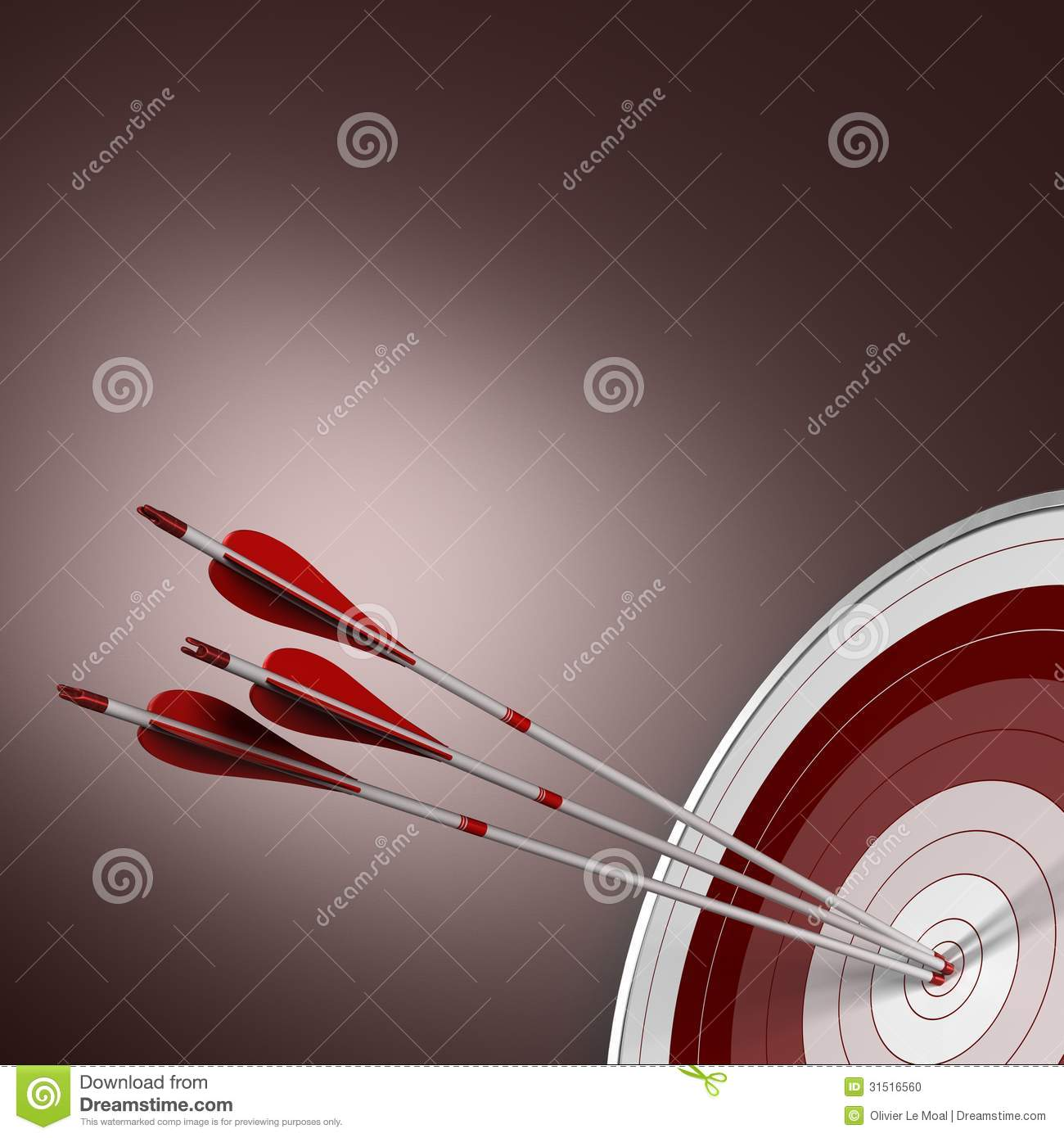 Bull 39 S Eye Perfect Shot Business Concept Stock Photo