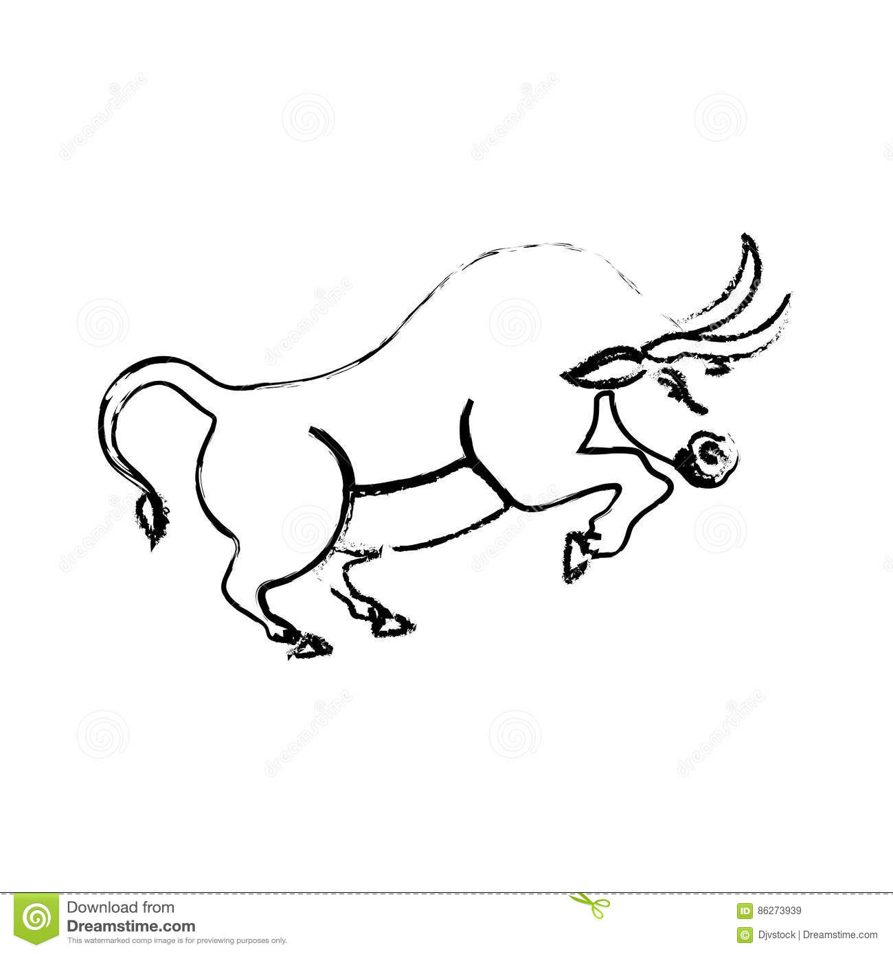Bull Stock Market Symbol Stock Illustration Illustration Of Stock
