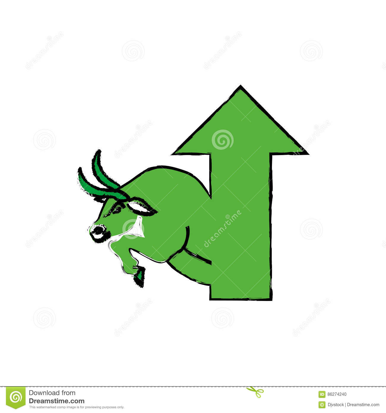 Bull Stock Market Symbol Stock Illustration Illustration Of Bank