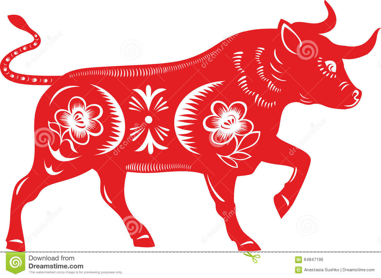 Bull Taurus Stock Vector Illustration Of Paper Collection 64847196