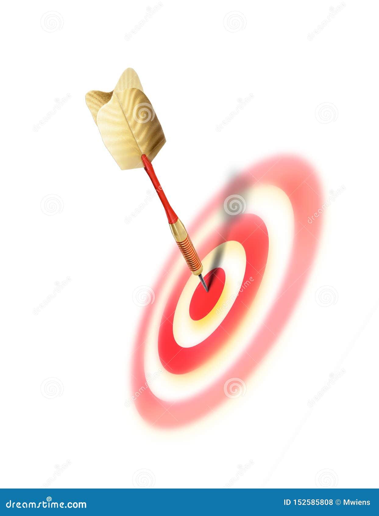 Bullaugenerfolgs-Konzeptbild mit Pfeil in der Mitte des Ziels