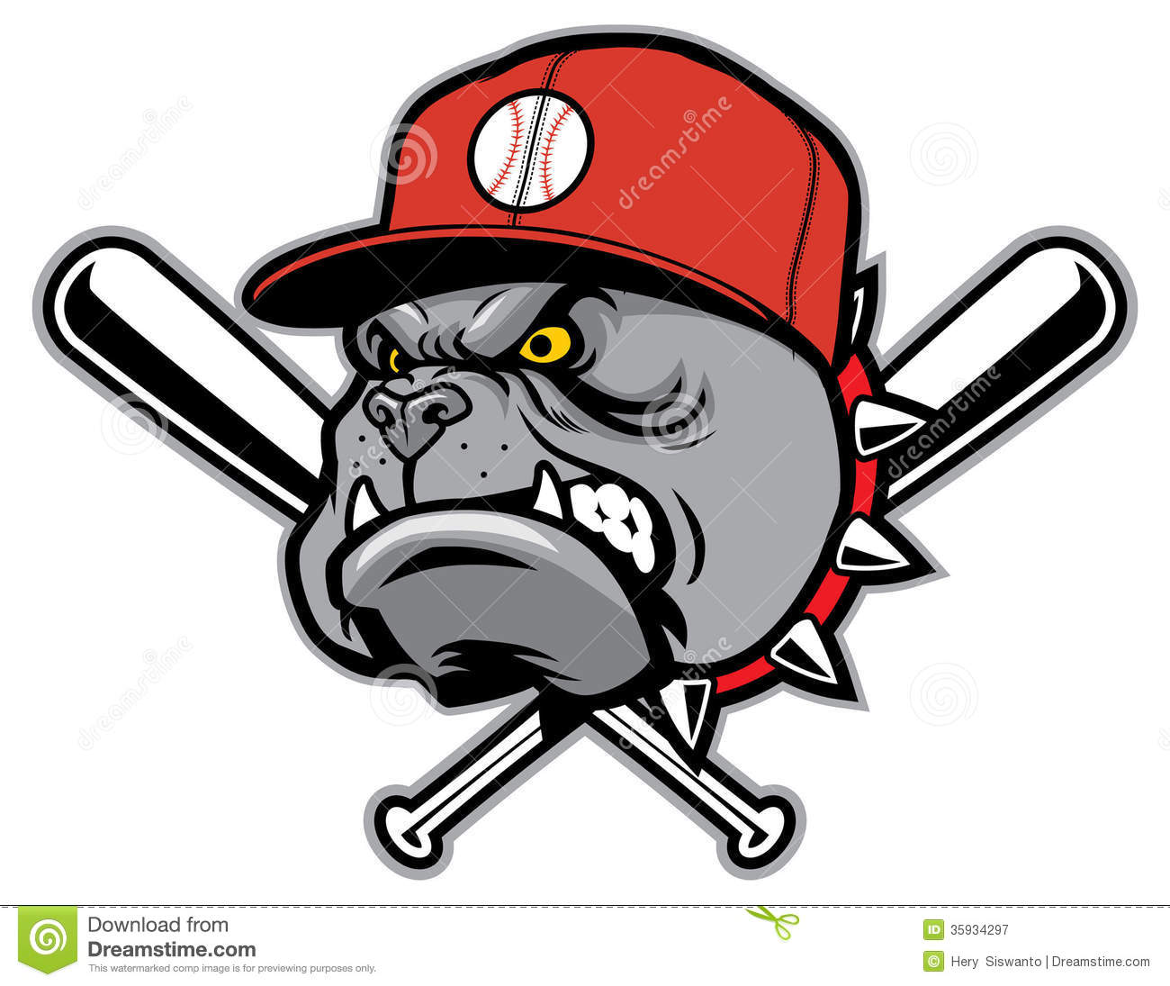 Bulldog As A Baseball Mascot Royalty Free Stock Photography - Image ...