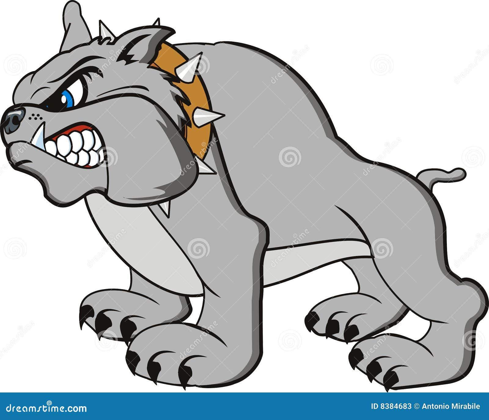 Bulldog Cartoon Stock Vector Image Of Domestic Furious