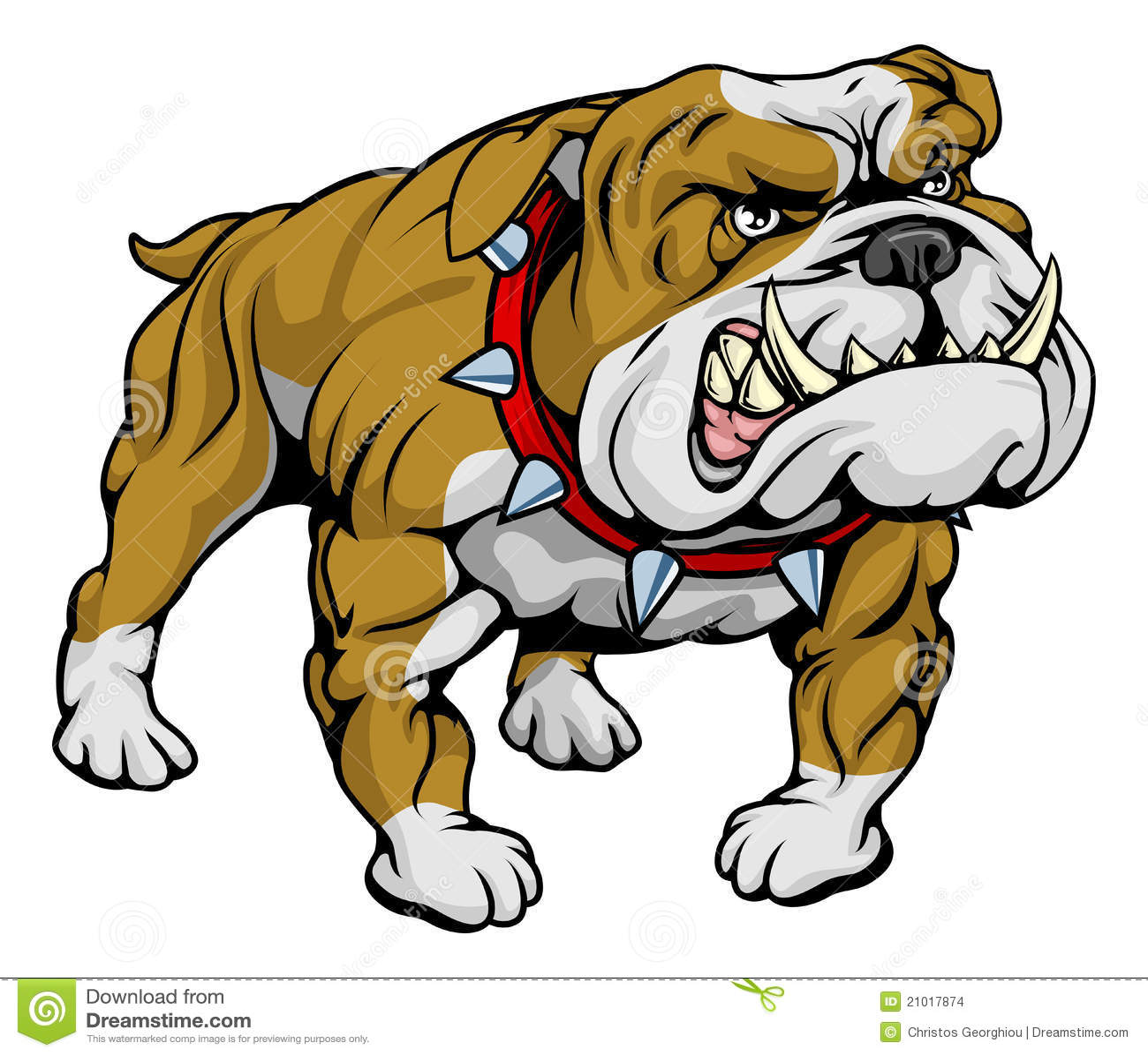 Bulldog Clipart Illustration Stock Vector Illustration Of Mean