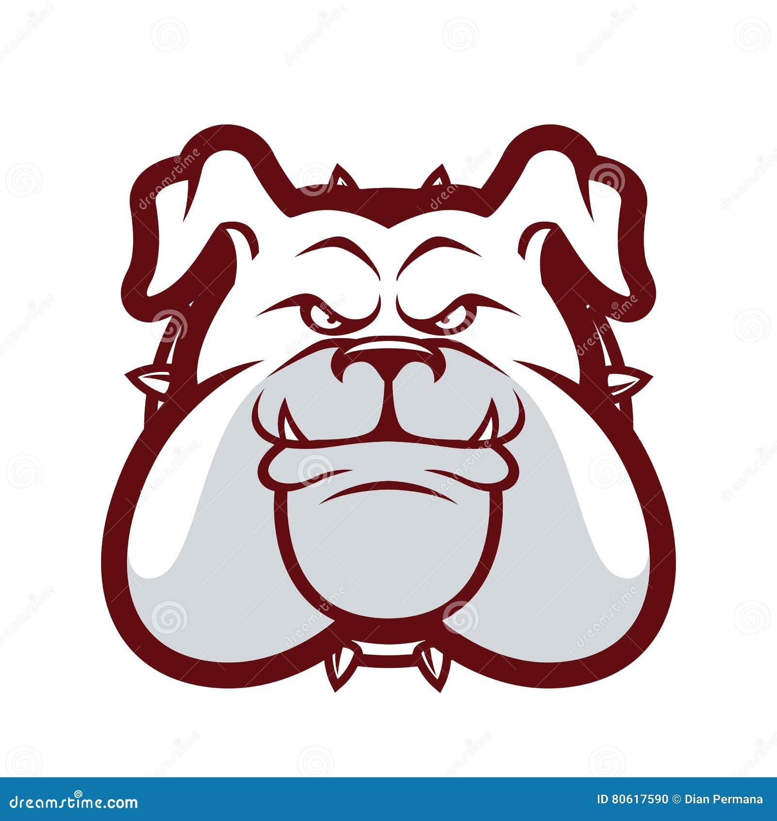 Bulldog Head Mascot Stock Vector Illustration Of Isolated 80617590