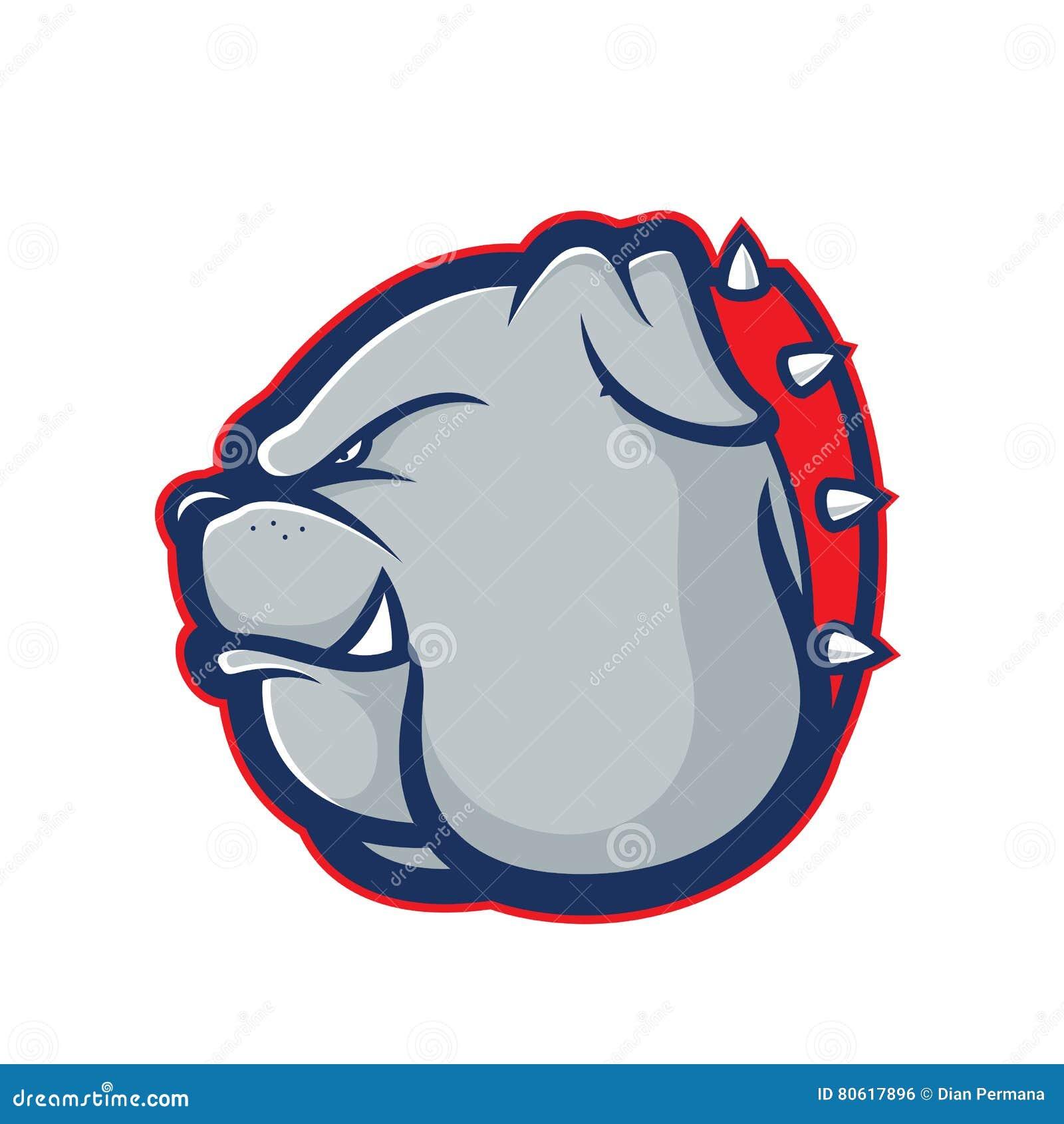 Bulldog Head Mascot Stock Vector Illustration Of Graphic 80617896