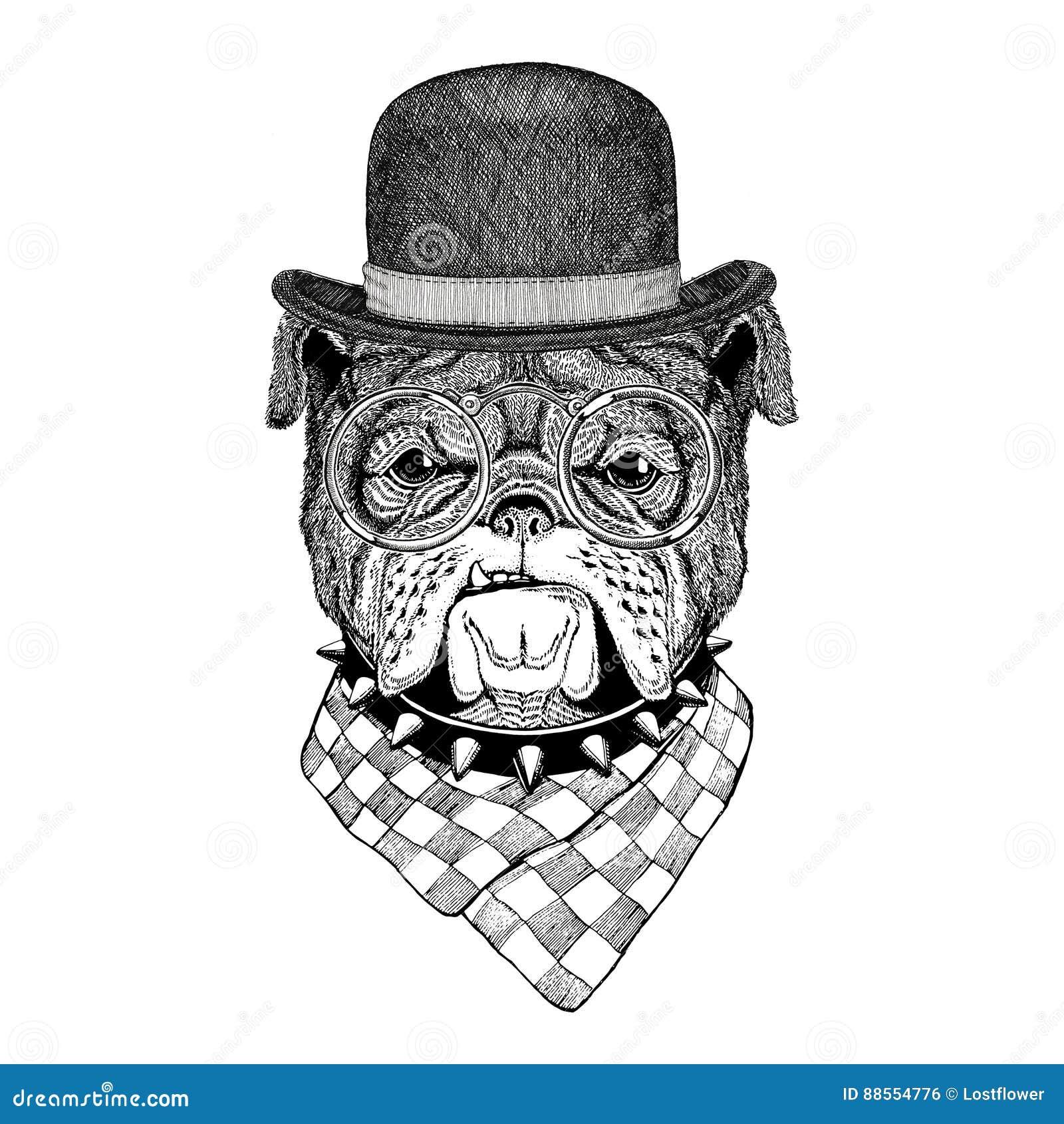 Bulldog image for tattoo logo emblem badge design stock for Tattoo style logo design