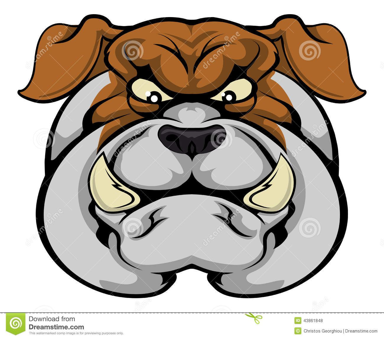 Cartoon Characters Facing Forward : Bulldog mascot face stock vector illustration of icon