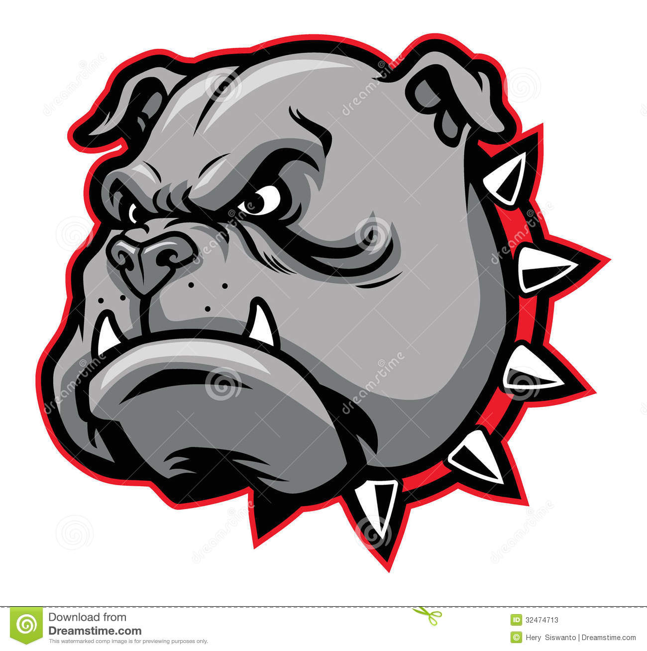 bulldog mascot stock vector illustration of bulldog 32474713 rh dreamstime com bulldog mascot logo stencil