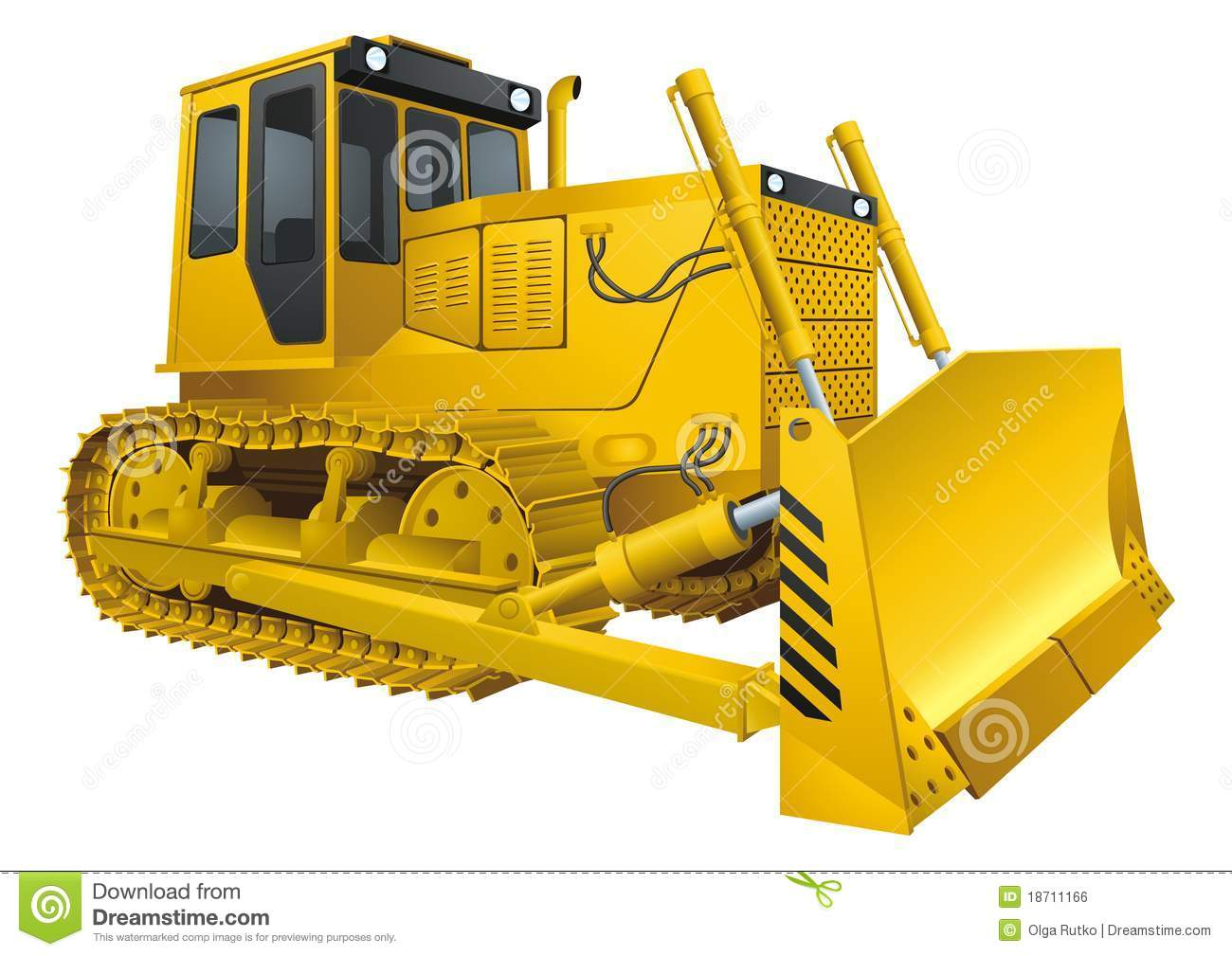 Bulldozer Royalty Free Stock Image - Image: 18711166