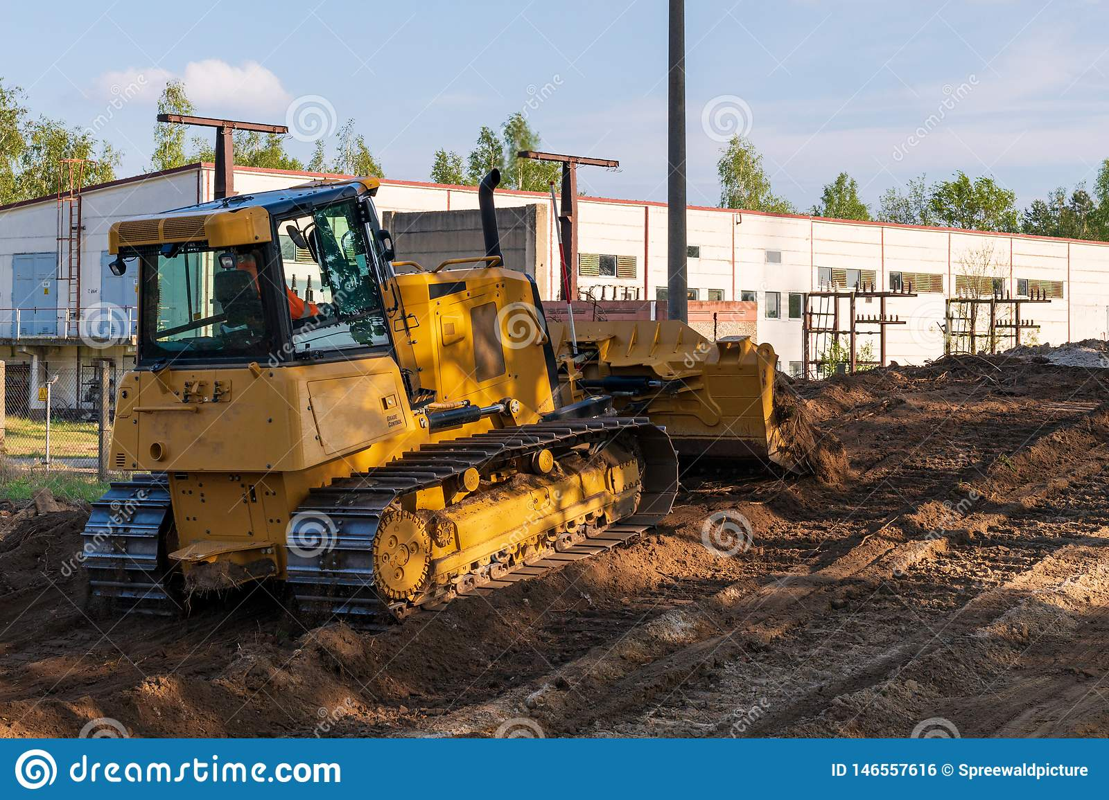 A bulldozer during clearing work