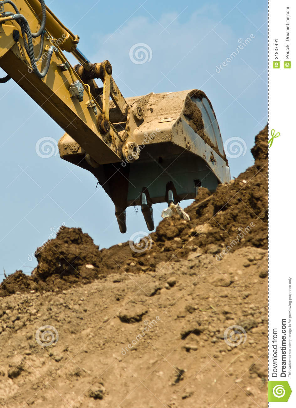 Bulldozer stock image image 31837491 for Digging ground dream meaning