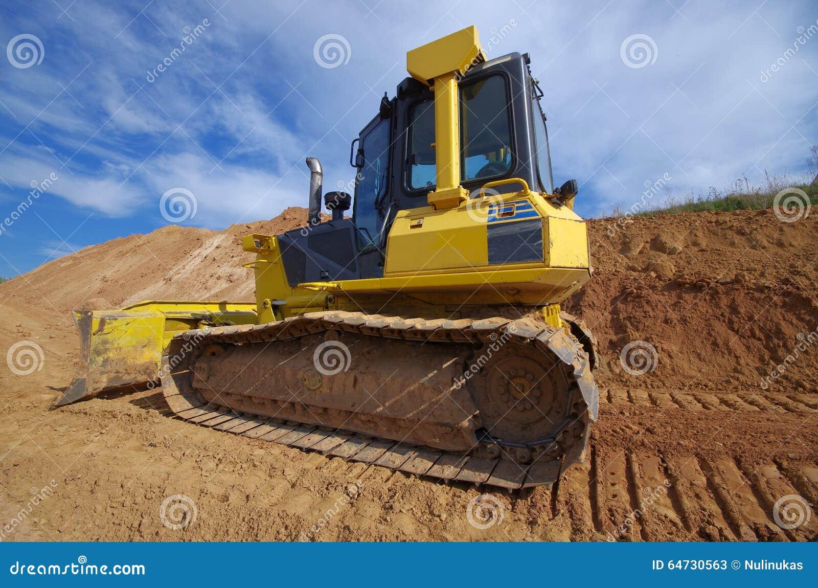 Bulldozer giallo della costruzione
