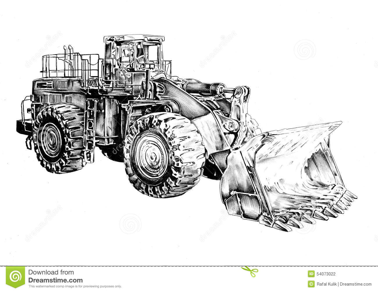how to draw a bulldozer