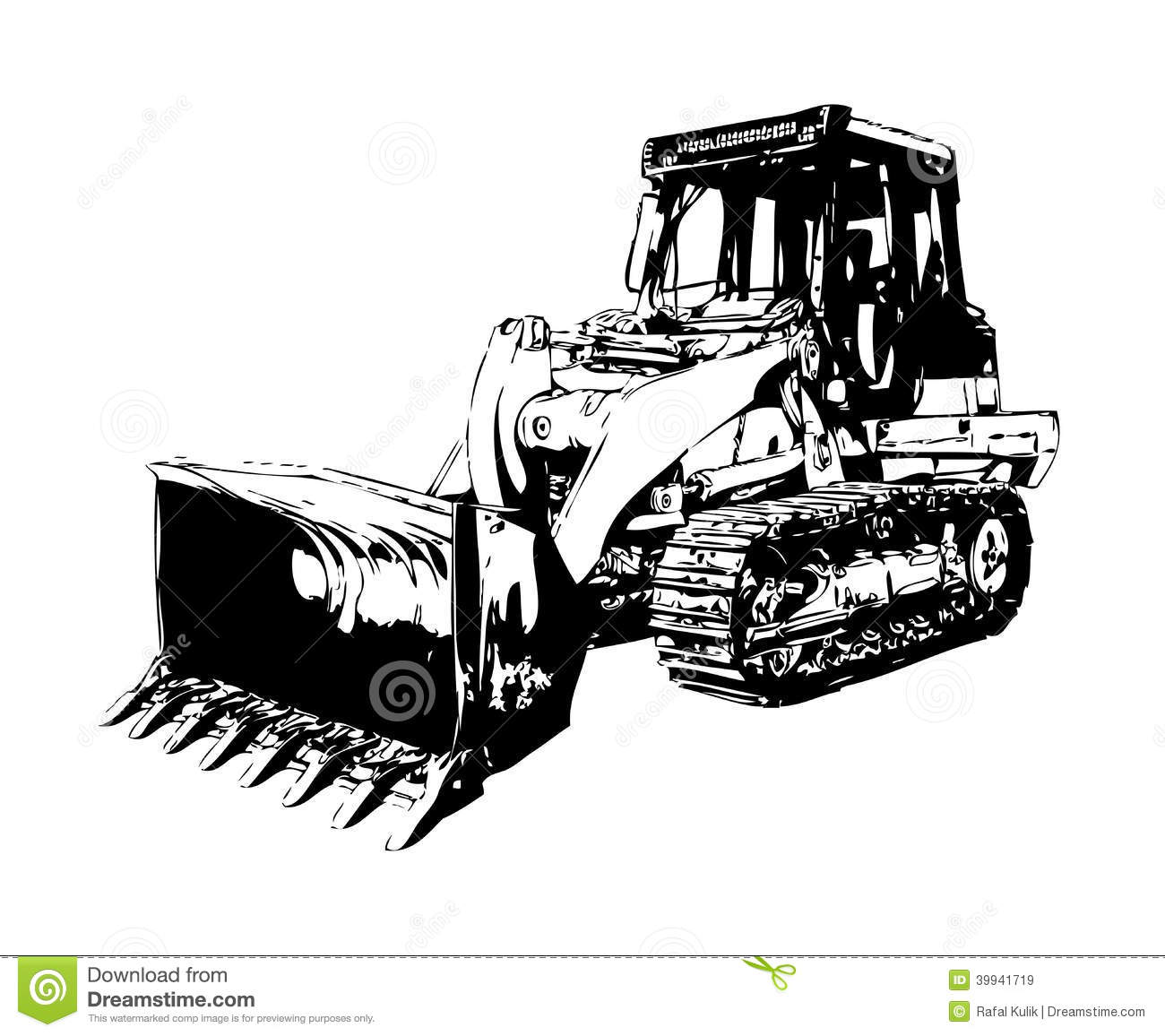 Royalty Free Stock Images Bulldozer Illustration Color Art Hand Made Drawing Artwork Design Image39941719 on diesel engine clip art