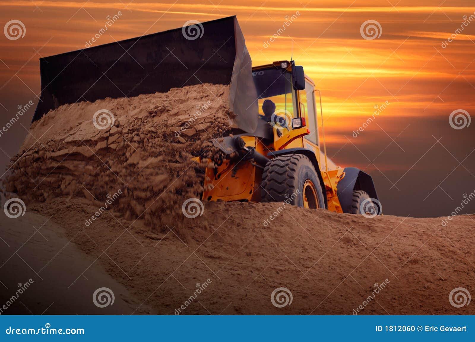 Bulldozer op het werk