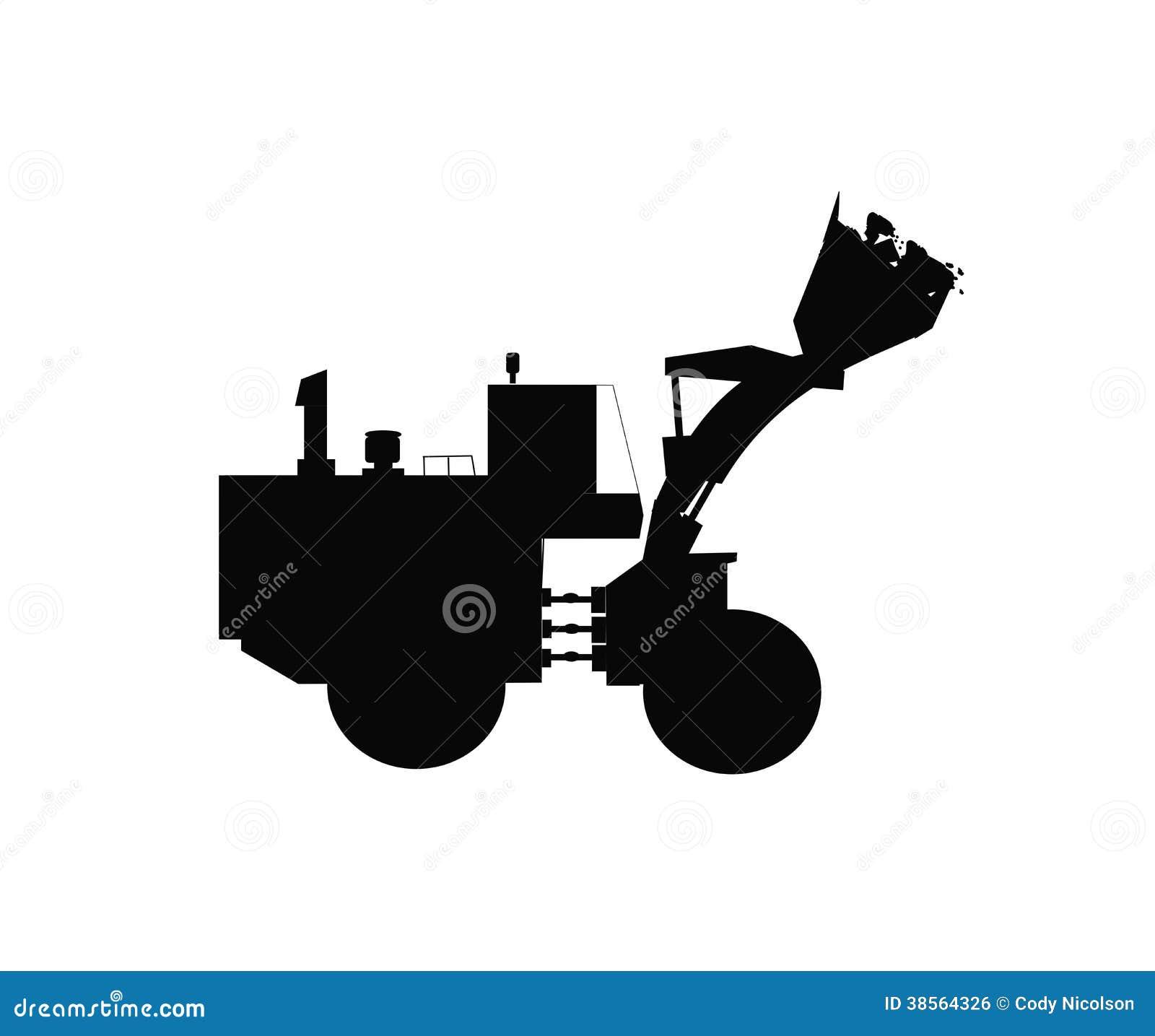 Bulldozer silhouette stock vector. Illustration of details ...