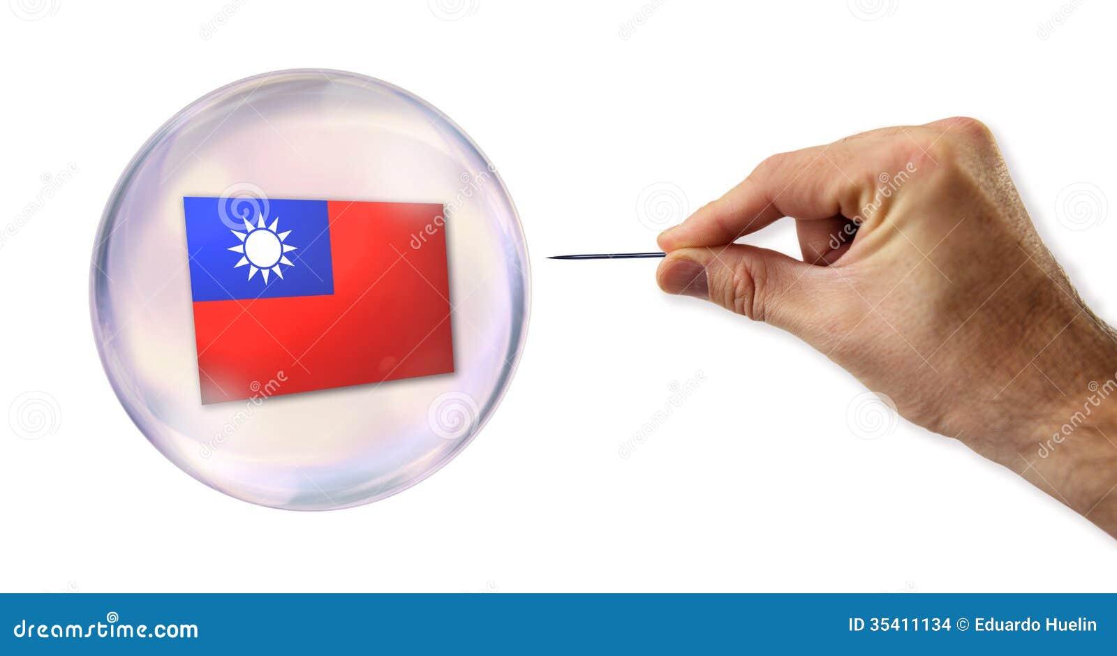 Bulle économique taiwanaise environ à éclater par une aiguille