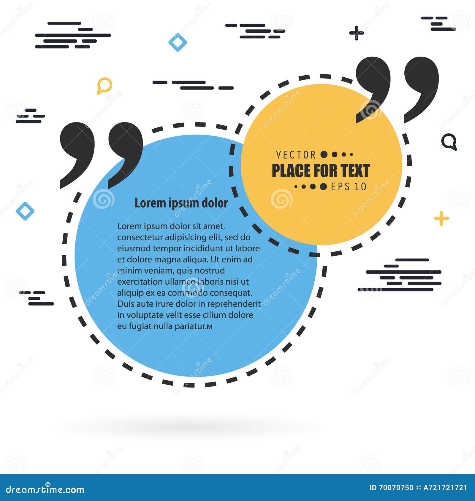 Bulle vide des textes de citation de place de la parole de vecteur abstrait de concept Pour le Web et l APP mobile d isolement su