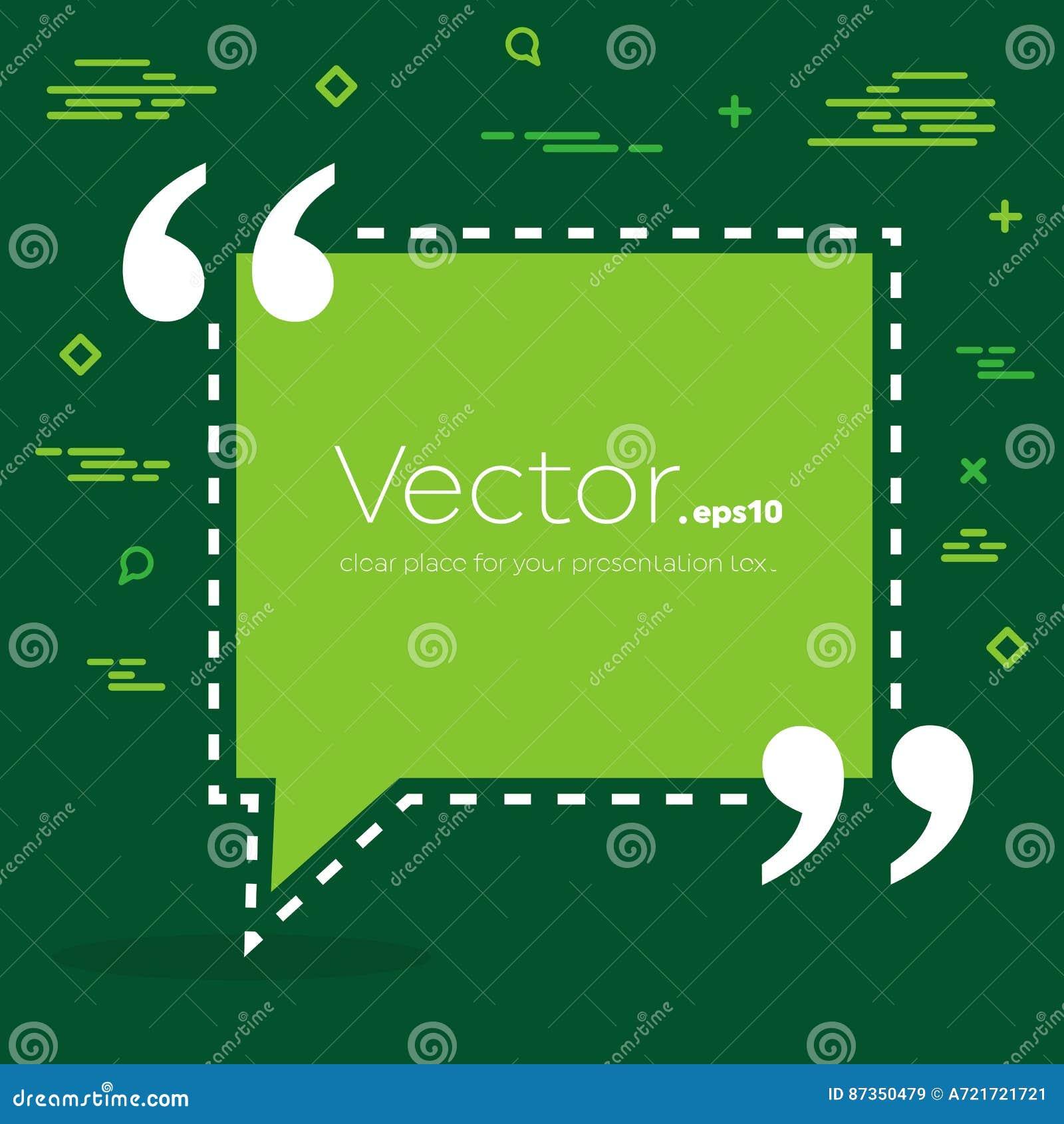 Bulle vide des textes de citation de place de la parole de vecteur abstrait de concept Pour le Web et l APP mobile sur le fond