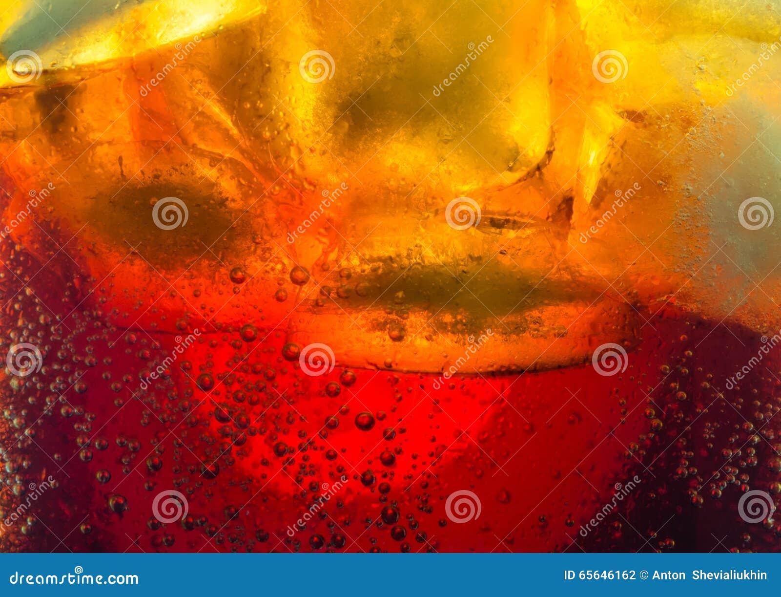 Bulles de glaçons de kola macro