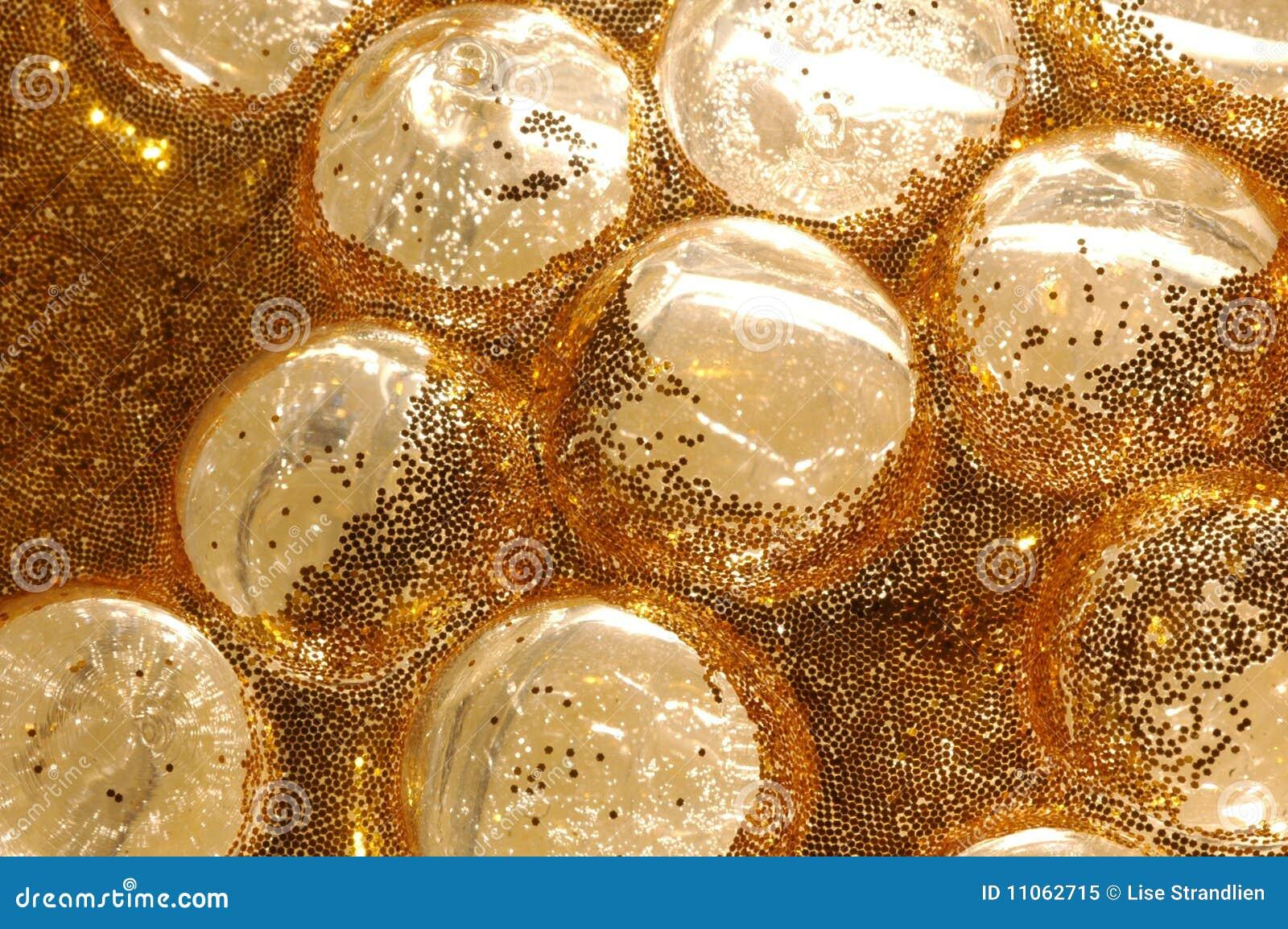 Bulles en verre d or