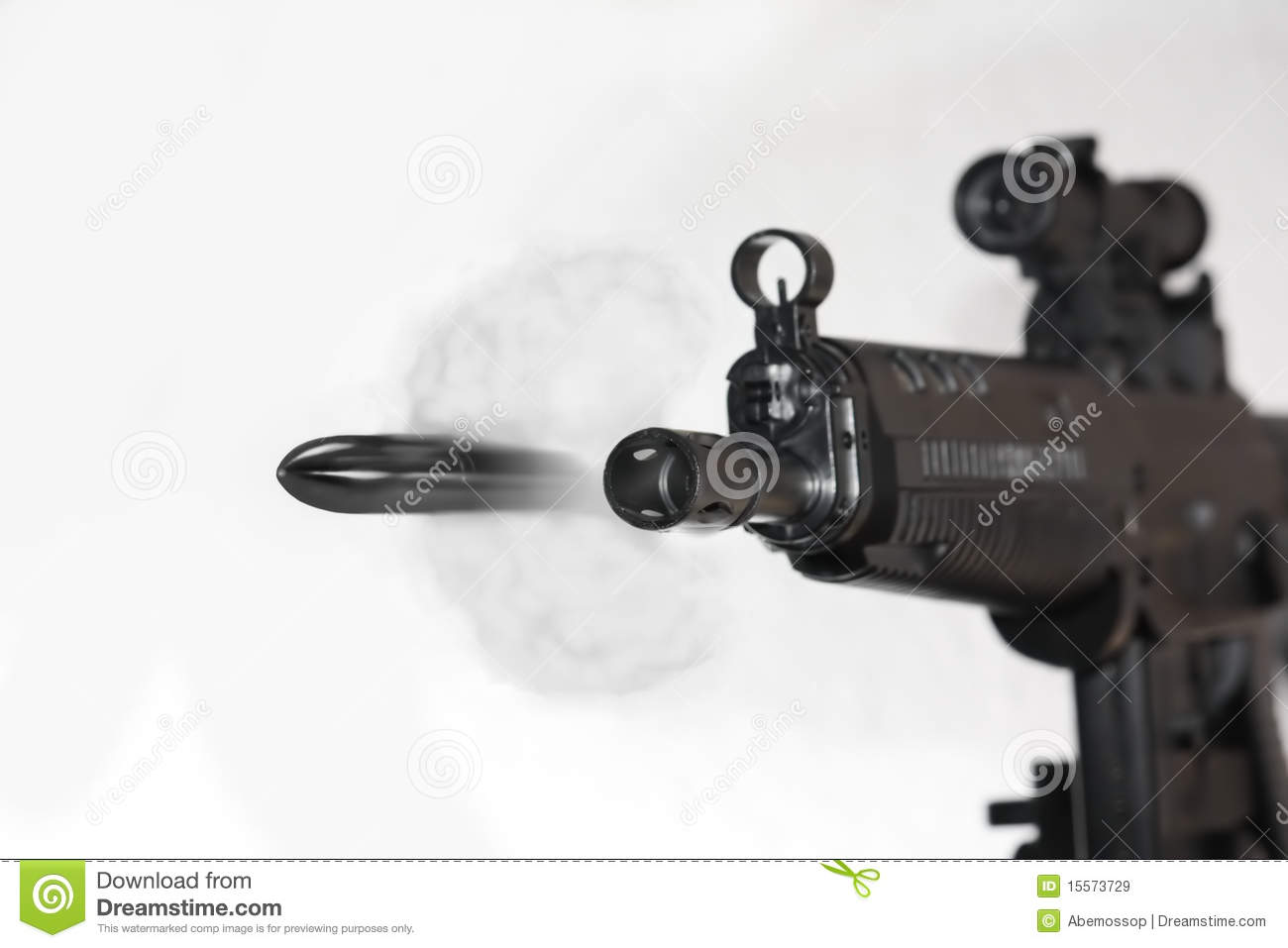 Bullet leaving Gun Barrel stock illustration  Illustration
