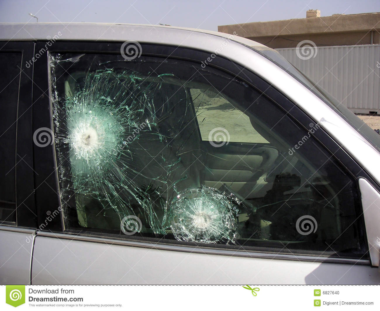 Bullet Proof Glass Armored Car Stock Photo - Image of
