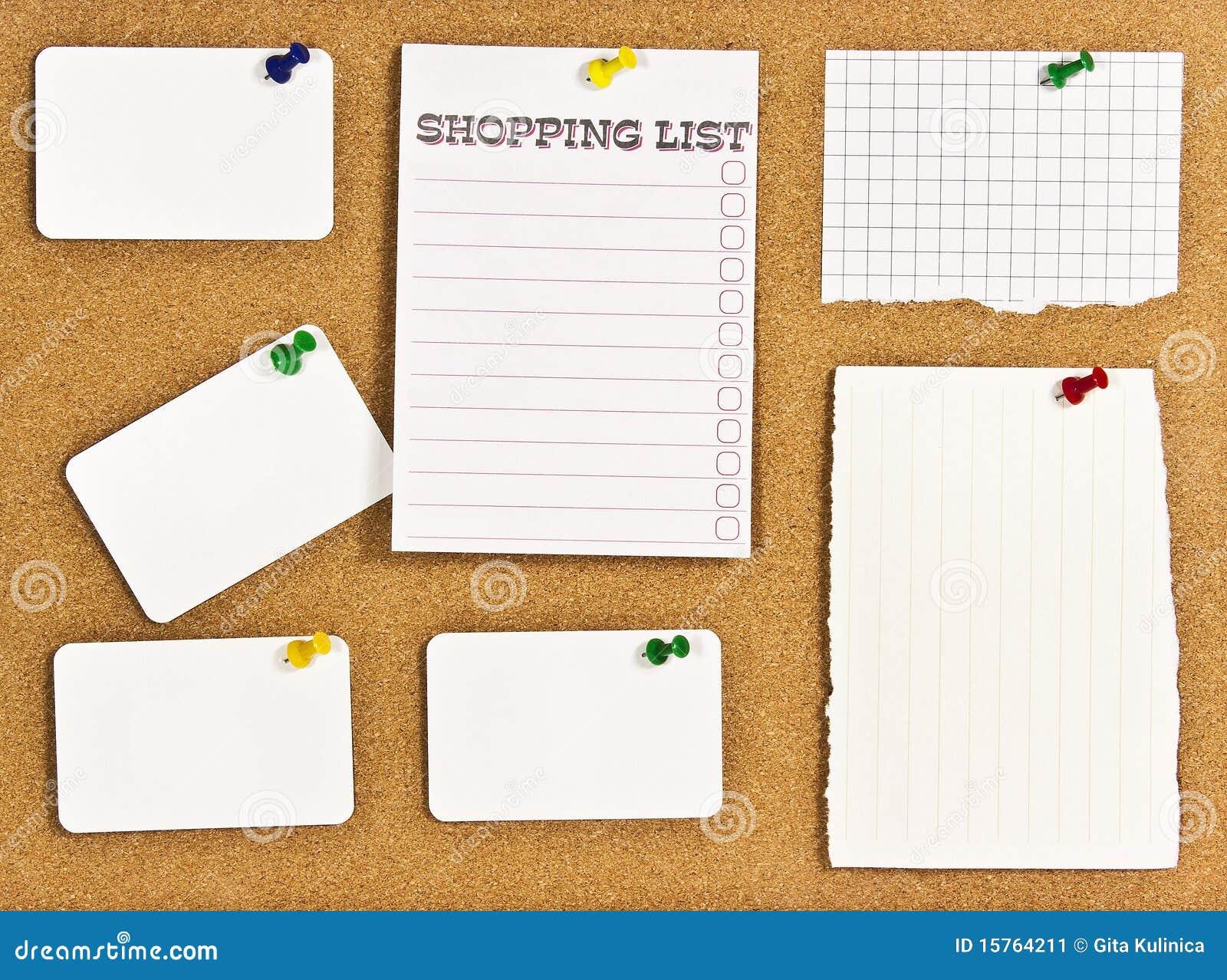 bulletin board stock image bulletin board