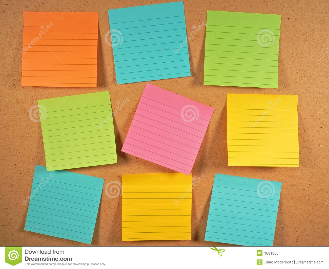 Bulletin Board Notes Stock Photo Image Of Empty Orange