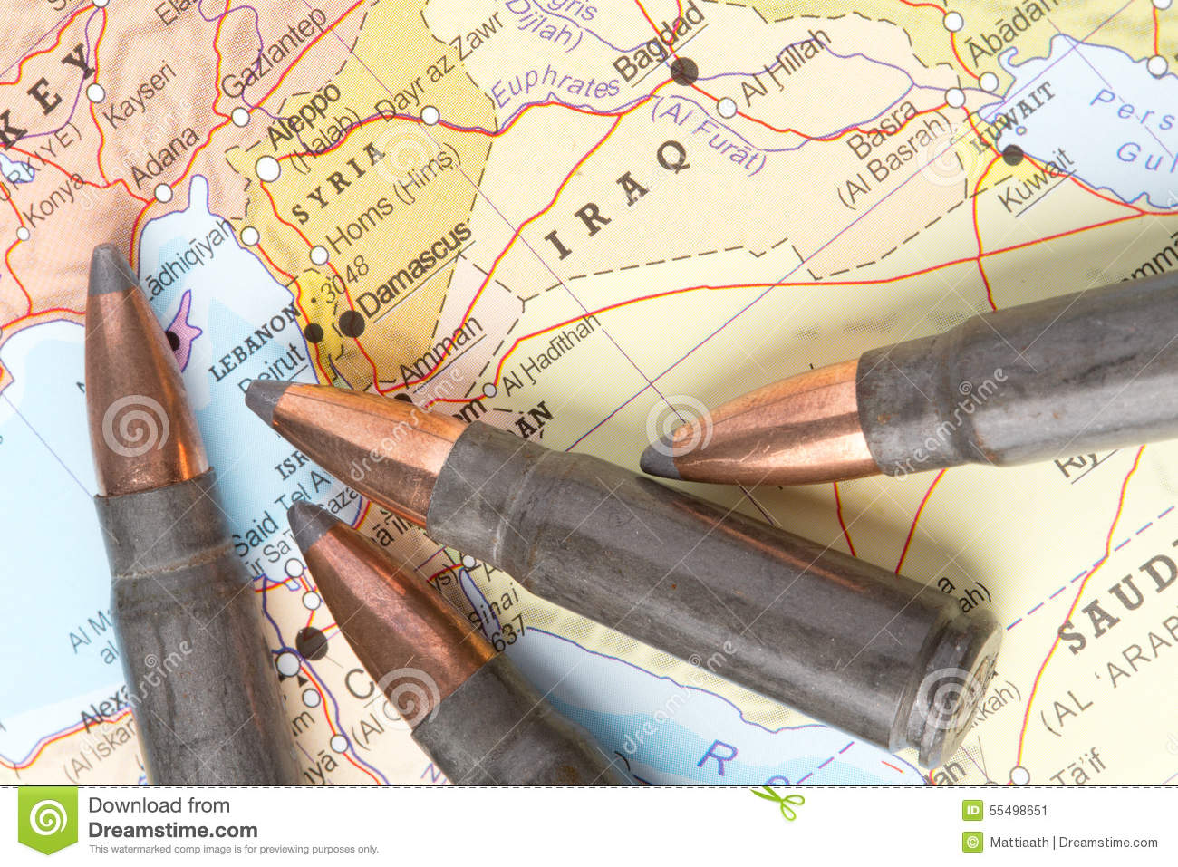 Bullets on the map of iraq and syria stock image image of bullet bullets on the map of iraq and syria sciox Gallery
