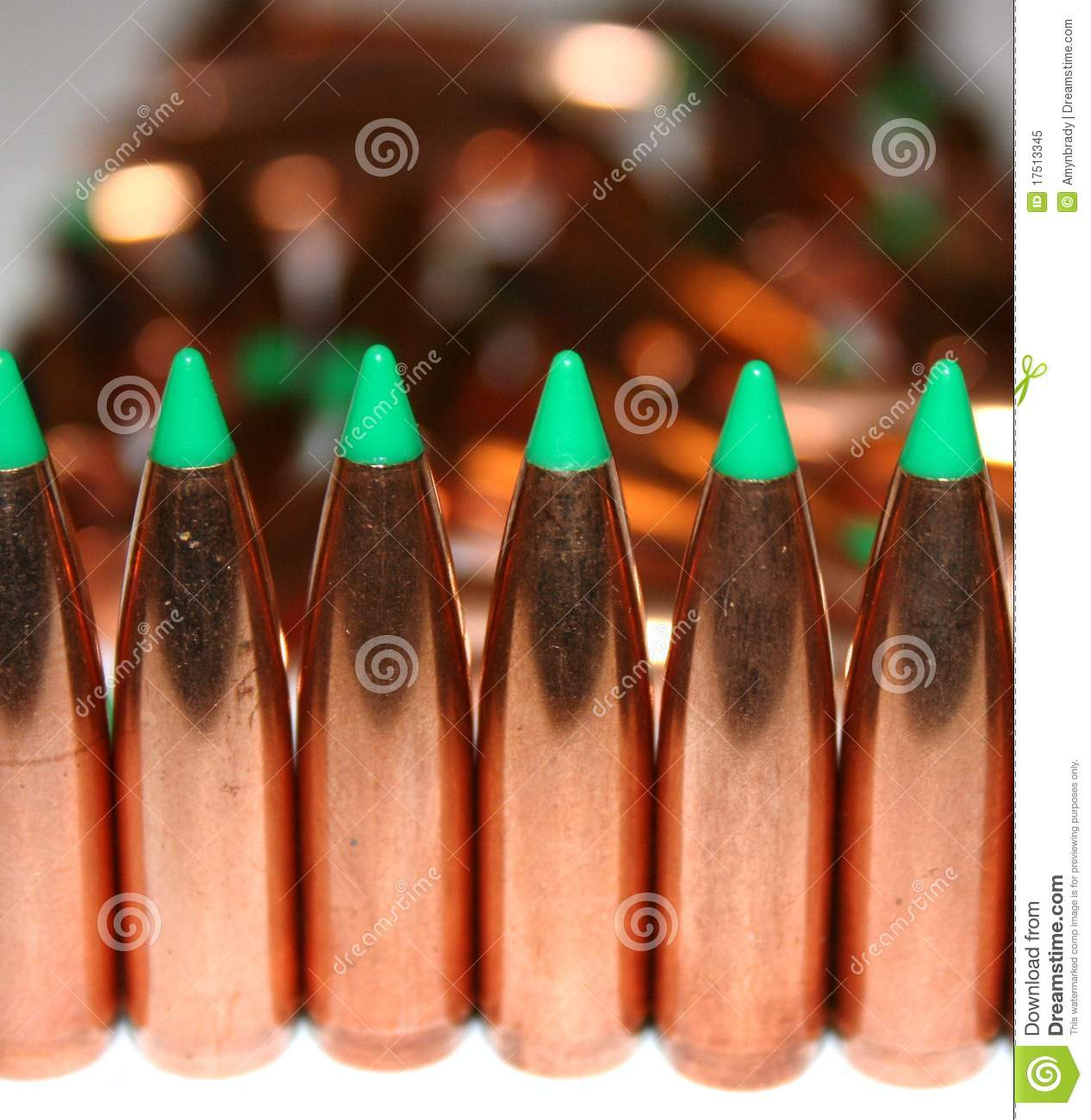 Bullets in a row stock image  Image of reload, powder - 17513345