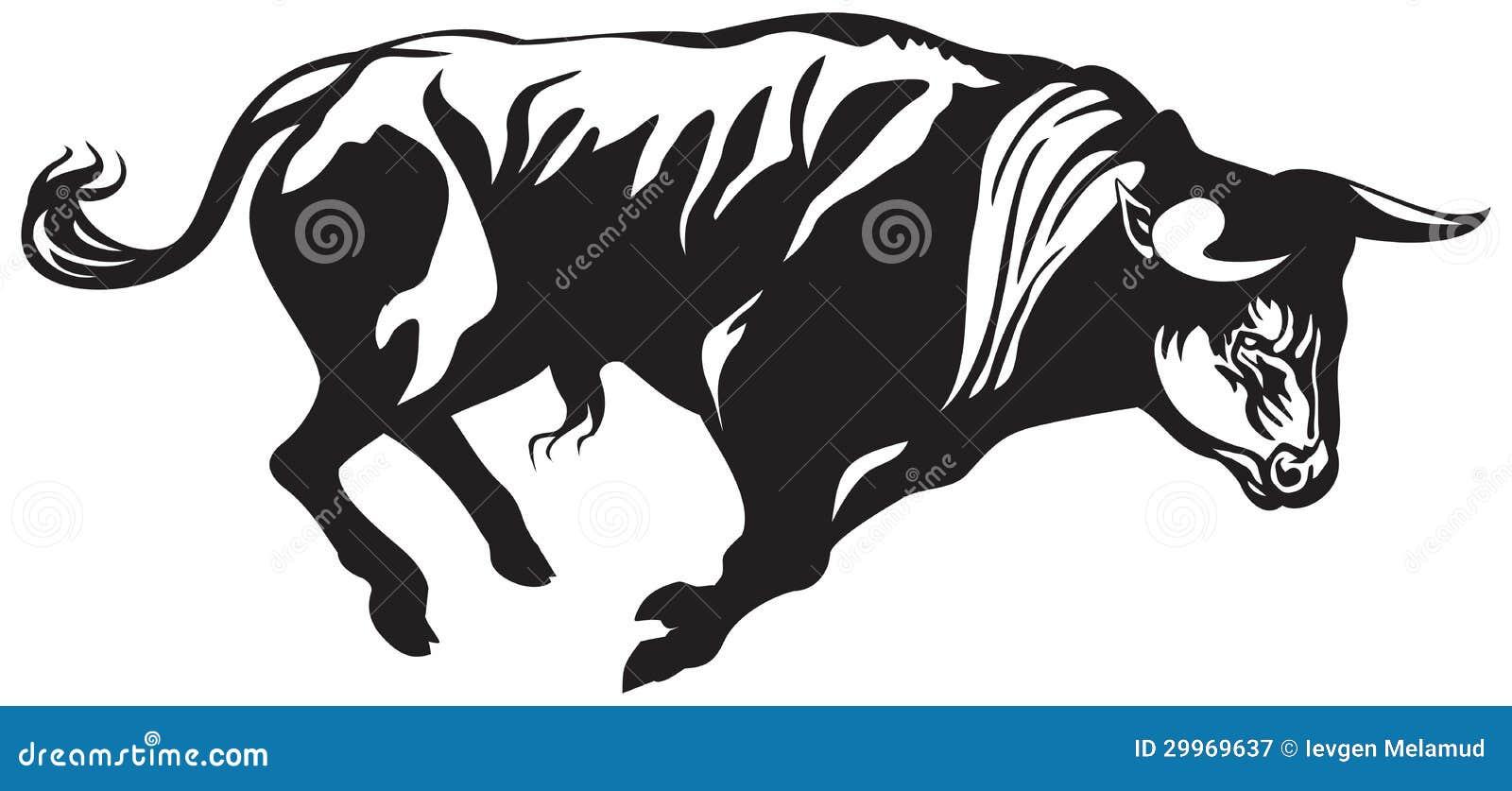 Bullfighting Bull Stock Vector. Illustration Of Aurochs