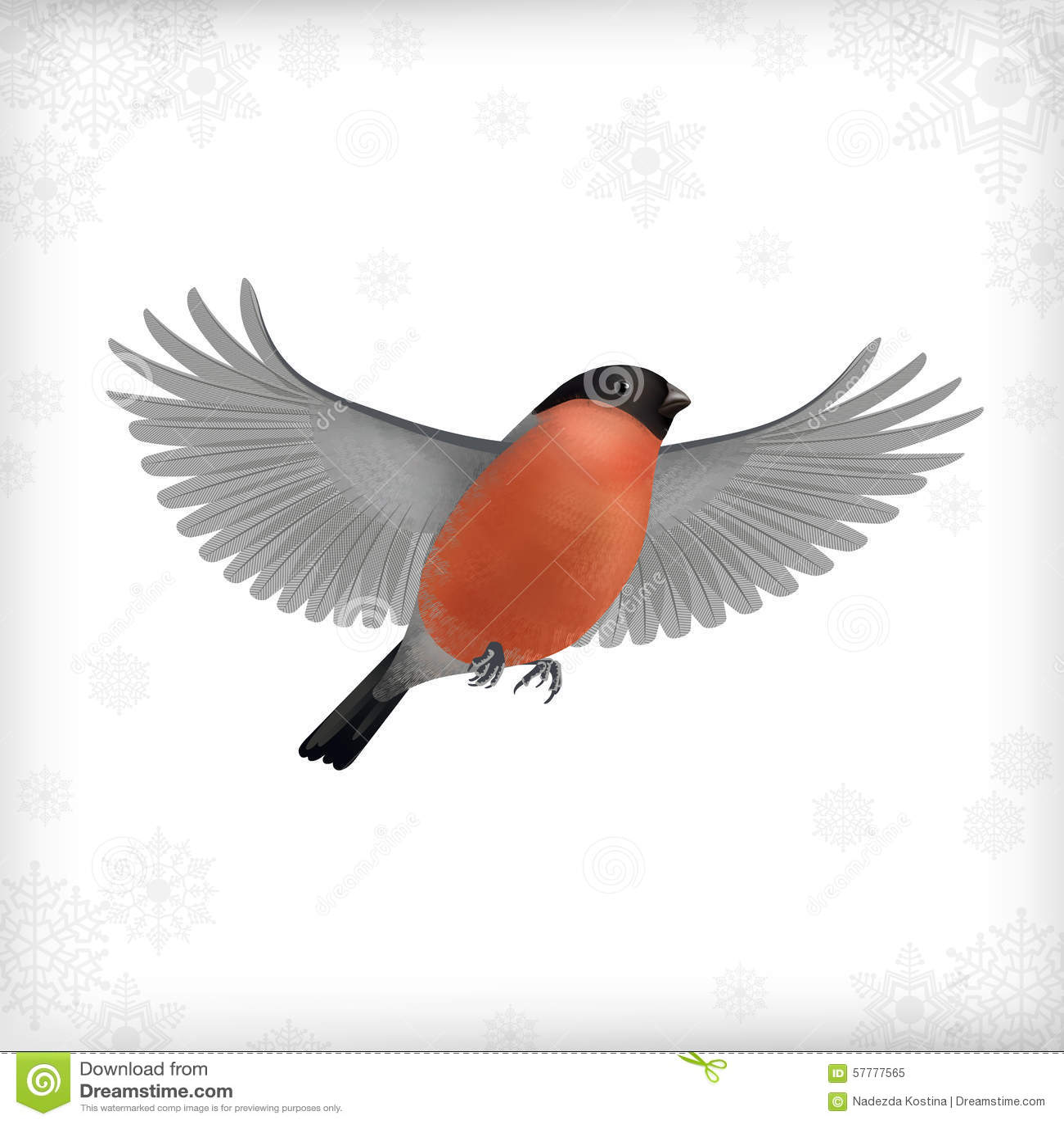 Картинка для детей снегири летят