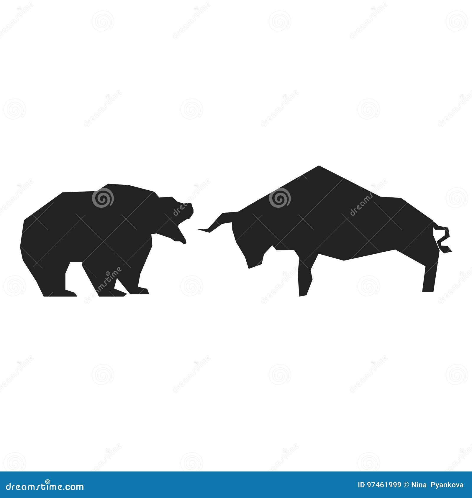 Bullish And Bearish Symbols Stock Vector Illustration Of Financial