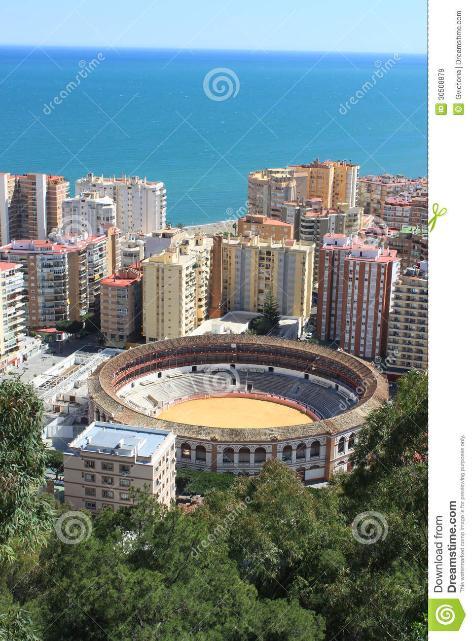 bullring in malaga spain stock image image of ring 30508879. Black Bedroom Furniture Sets. Home Design Ideas