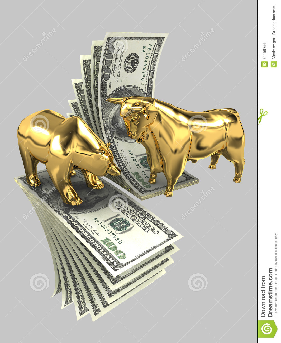 Bulls And Bears 3 Stock Illustration Illustration Of