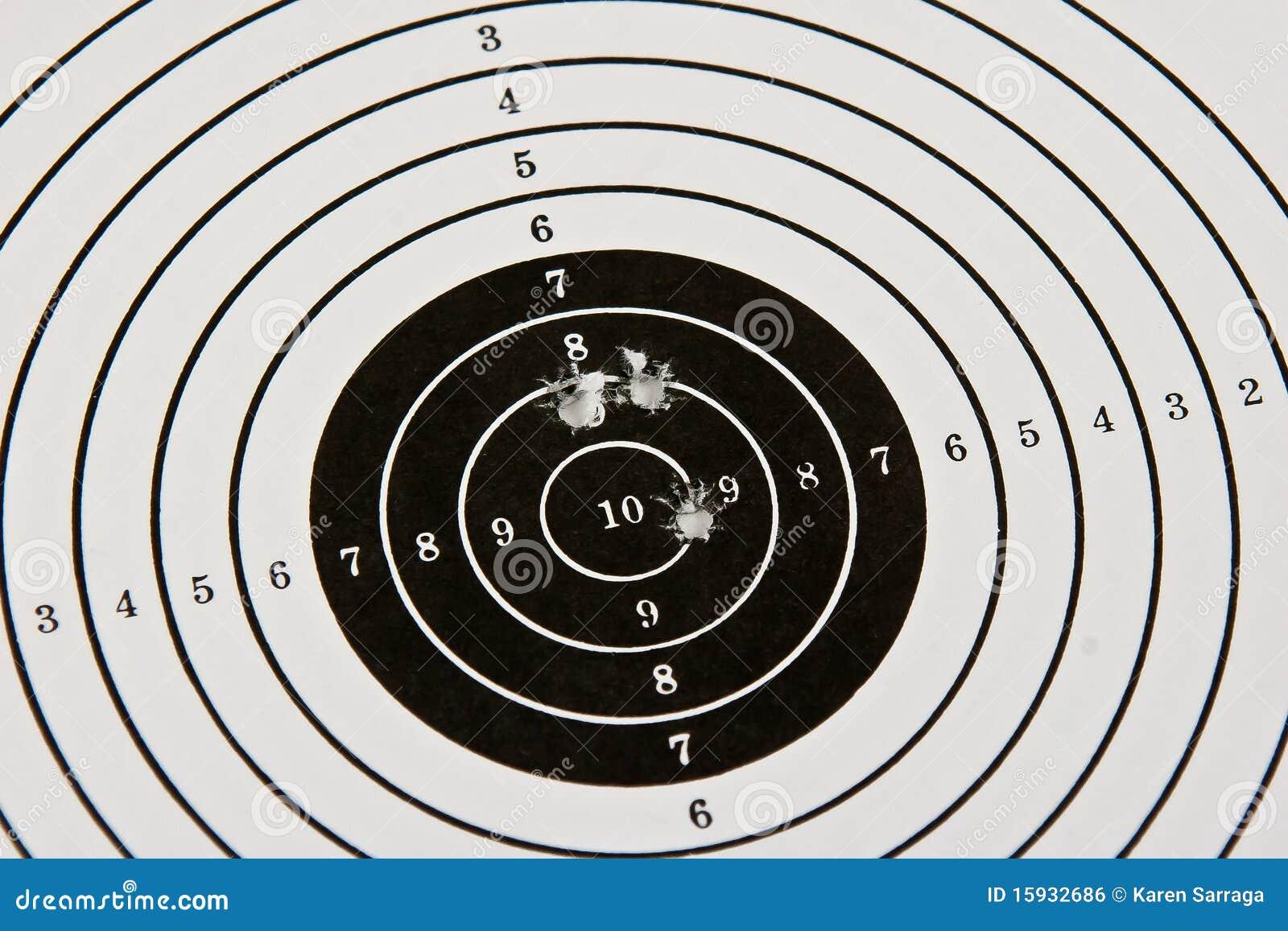 bulls eye target with bullet holes royalty free stock vector art bullet holes free Skull Bullet Hole Vector
