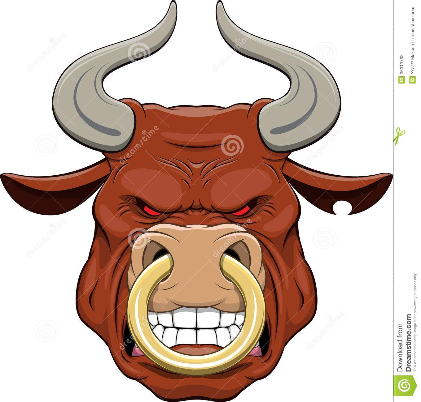 Cartoon Bull Nose Ring Stock Illustrations 70 Cartoon Bull Nose