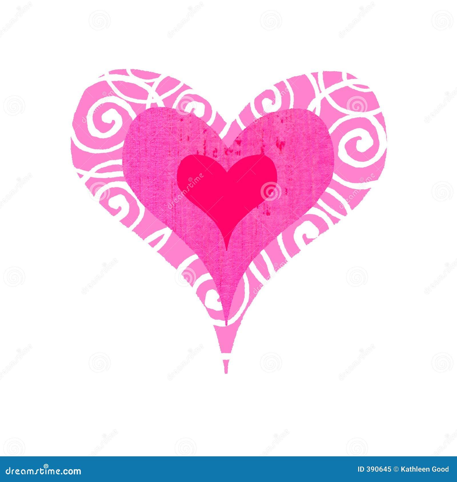 Bullseye groovy heart