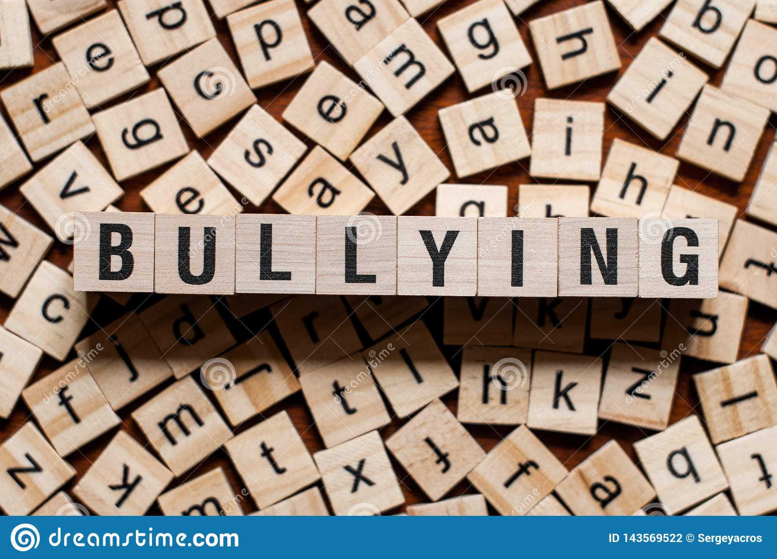 Bullying word concept