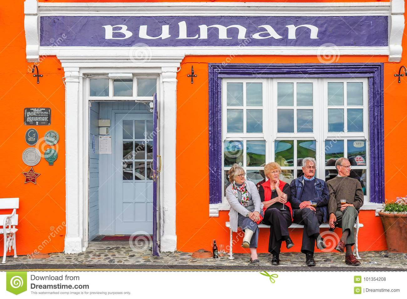 a4061bb0aa Patrons enjoy each other`s company outside the renowned Bulman Bar in  Kinsale