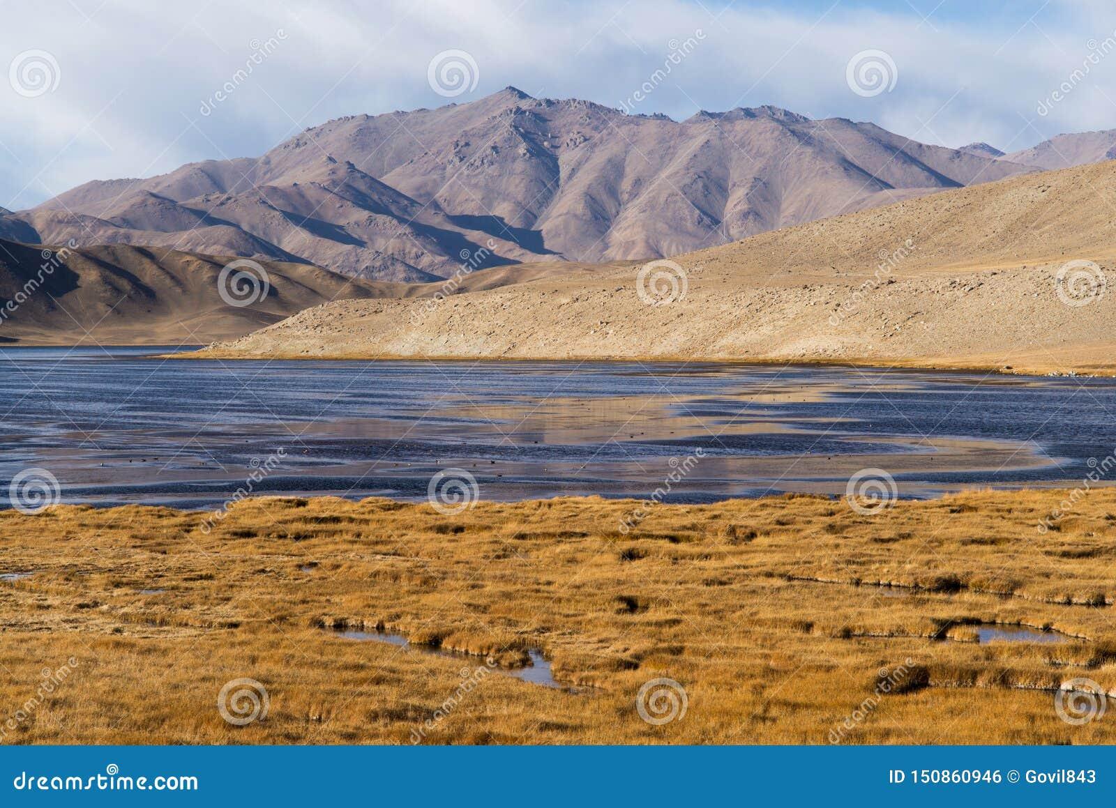 Bulunkul, Τατζικιστάν: Όμορφη άποψη της λίμνης Bulunkul Pamir στο Τατζικιστάν